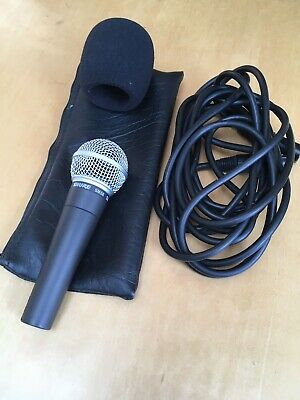 Shure SM58 Dynamic Vocal Microphone with case and lead