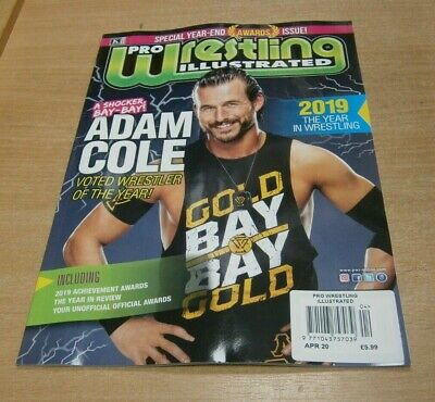 Pro Wrestling Illustrated magazine APR 2020 Special Year-End Awards, Adam Cole &
