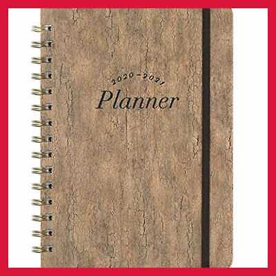 """2020 Planner Weekly & Monthly W Tabs 6.5"""" X 8.5"""" Hardcover Back Pocket + Thick P"""