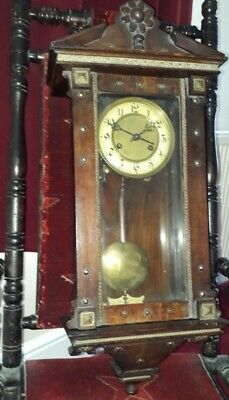 Unusual vienna type wall clock for repairs or spares