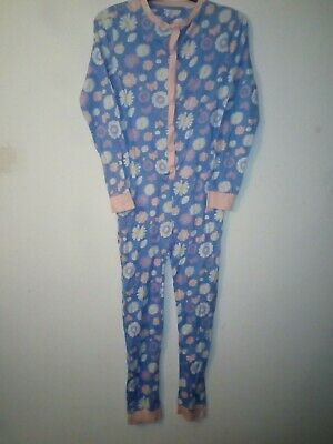 Bnwt Primark Young Dimension  Long Floral Sleepsuit All In One Size 13 Years