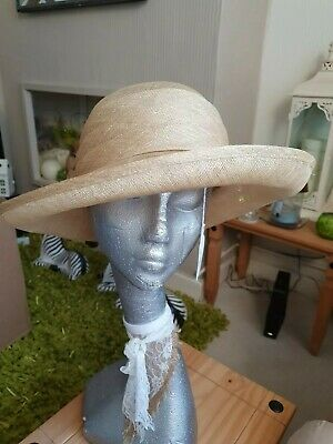 Natural Coloured Ladies Hat Wedding Races Church Occasion Sunday Best Formal