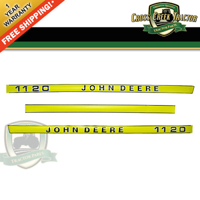 1120DECAL NEW Hood Decal Kit for John Deere 1120