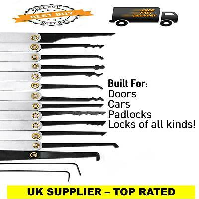 🔑 🚪 Lock smith training tools 15 pcs 🔑 🚪🔑 🚪UK STOCK FREE DELIVERY 🚚 🚚 🚚