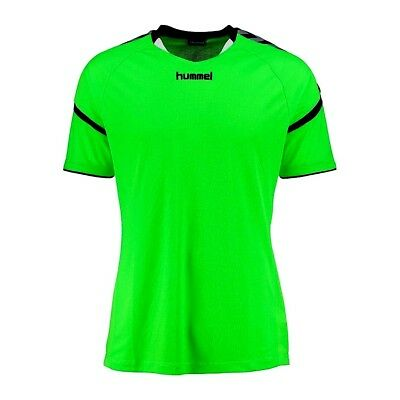 Hummel Authentic Charge S/S Poly Jersey Green Gecko Size 140-152 Bnwt Rrp £22