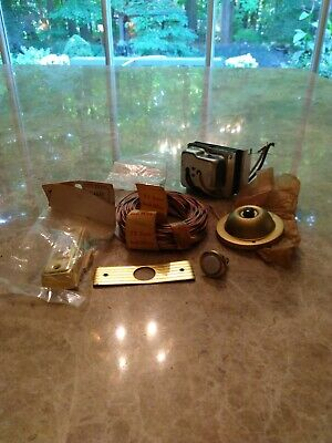 Vintage Doorbell Hardware Kit including 75 Ft of Bell Wire