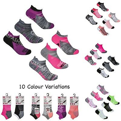 Women's Ladies Ankle Low Cut Socks Running Trainer Liners Sports Gym 3 Pairs
