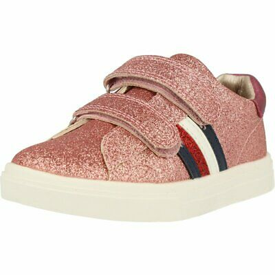 Tommy Hilfiger Trainer Pink Microglitter Infant Trainers Shoes
