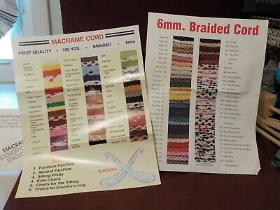 Very Nice Lot Of 2 Macrame Cord Color Charts