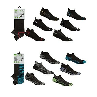 Mens 3 Pairs Sports Trainer Liner Socks Ankle Low Rise Gym Running Cushioned
