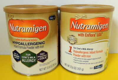 2 cans - Nutramigen 12.6 oz/can by Enfamil - SLIGHTLY DENTED