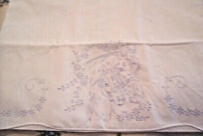 1 Cotton Pillowcase Stamped for embroidery HORSE HEAD Design Vtg