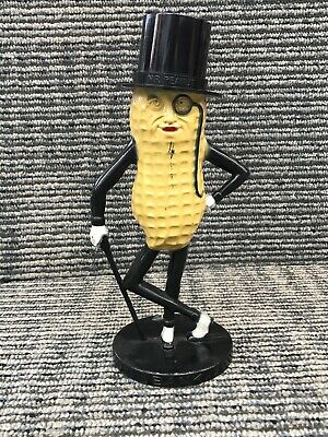 Vintage Planters Peanuts Mr. Peanut Plastic Coin Bank Tan & Black Made In USA 1