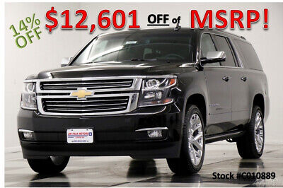 2020 Chevrolet Suburban MSRP$77545 4X4 Premier GPS Sunroof Leather Black New Heated Cooled Seats Captains Navigation Camera Carplay Keyless 19 2019 20