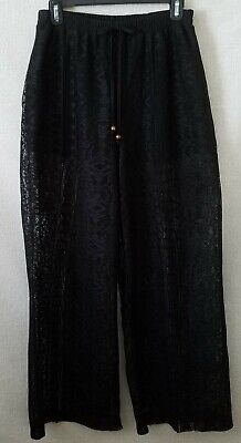 Maurices Womens Pants Size Small Beach Pool Lounge Sheer Lace Black