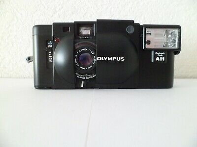 Olympus XA 35mm Compact Rangefinder Camera + A11 flash Excellent Condition. Used