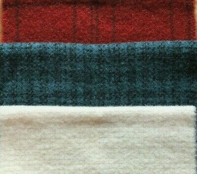 """HAND DYED RUG HOOKING WOOL Mill-Dyed APPLIQUE """"RED**WHITE**BLUE # THREE"""""""