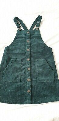 Girls Next Cord Pinafore Dress. 10 Years. BNWT in Green Colour