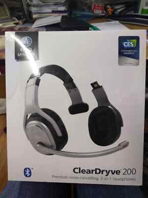 Rand Mcnally Clear Dryve 200 Premium Noise Cancelling 2 In 1 Bluetooth Headphone