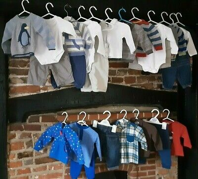 Baby Boys Clothes Bundle size 0-3 months Mix & Match outfits Next & more