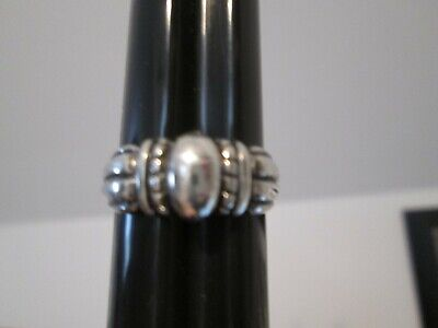 James Avery RETIRED Sterling Silver Thatch Dome Beaded Ring Size 9.5 10 w/box