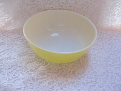 Vintage Pyrex Yellow Mixing Bowl Primary Colors #404 4 Quart