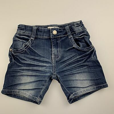 Girls,Boys size 3, Breakers, blue stretch denim jean shorts, adjustable, GUC