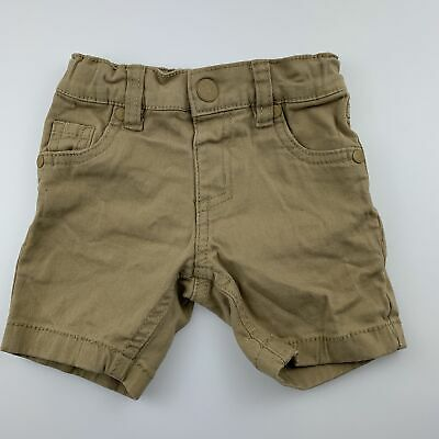 Boys size 0, Breakers, beige stretch cotton shorts, adjustable, GUC
