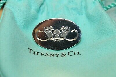 Tiffany & Co. 925 Sterling Silver Dragon Crest Pin *Pre-owned*