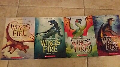 Wings of Fire Books 1,2,3,4 (Lot of all 4)