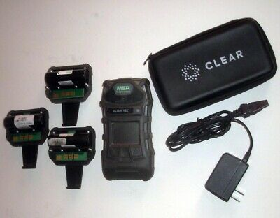MSA Altair 5X Multi-Gas Detector NEW PUMP 3 Batteries 3 Clips + Power Supply
