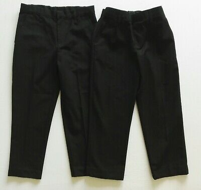 Boys age 5-6/6 years 2X black school trousers by MARKS&SPENCER,TU hardly worn!