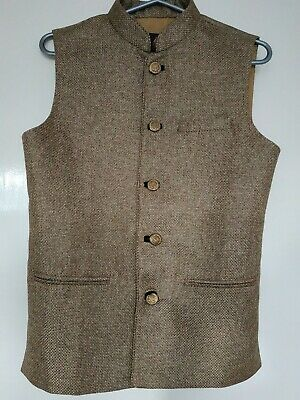 Rusty Gold Nehru Waistcoat ~ Size small, Only Worn Once For 3hours ~ RRP £40
