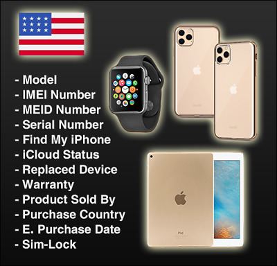 Apple Official Carrier Check, iPhone, iPad, iPod, iWatch: Sold By ✅ Full INFO ✅