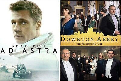 Ad Astra & Downton Abbey-The Motion Picture (DVD 2019)VGC-Set of 2 Great Dramas!