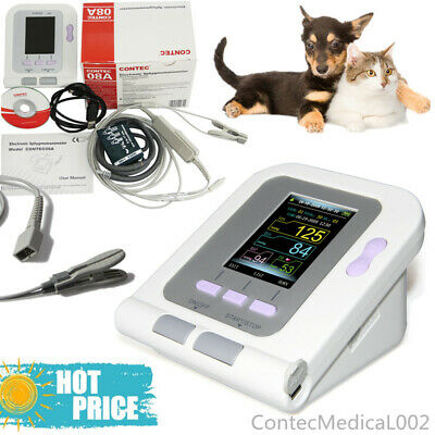 FDA Digital Blood Pressure Monitor Veterinary NIBP SPO2 Pulse Rate Oximeter + SW