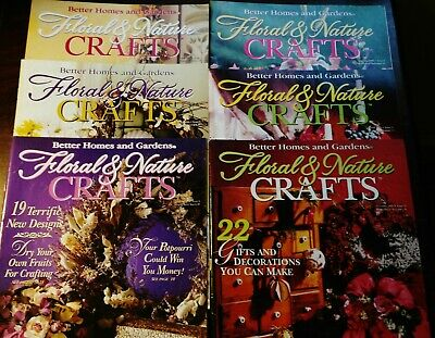 6 Floral & Nature Crafts Magazines Better Homes & Gardens Publication 4 Seasons