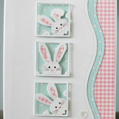 DIY Metal Cutting Dies/Cut Die Mold Cute Rabbit Frame Scrapbook Stencil Craft