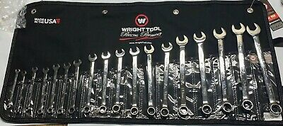 Wright Tool 958 Full Polish Metric Combination Wrenches 7mm - 24mm (18-Piece)