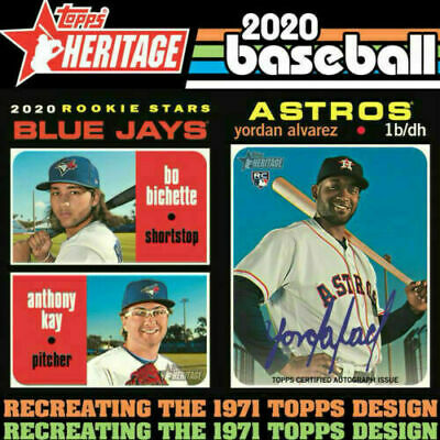 2020 Topps Heritage Complete Base Set 1-400 Card Ready To Ship Free Yordan RC