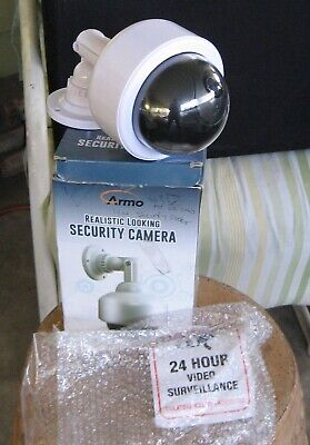 Fake Security Camera, Dummy Dome Shaped Decoy Realistic