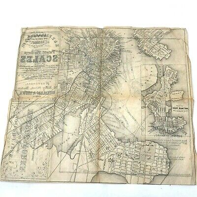 1857 map Forest Hills Cemetery JP & Boston Carew Marble Fairbanks Scales ads
