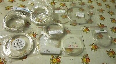 lot beading wires 20 1/2 guage silver wire gold filled non tarnish sterling
