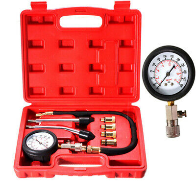 Pressure Gauge Compression Tester Kit Petrol Gas Engine Cylinder Pressure Gauge