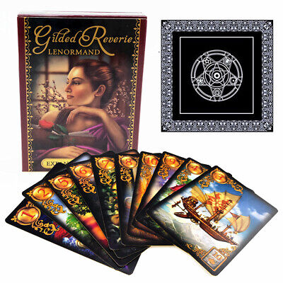 47Pcs Read Fate Lenormand Oracle Card Mysterious Fortune Tarot w/Tablecloth Kit