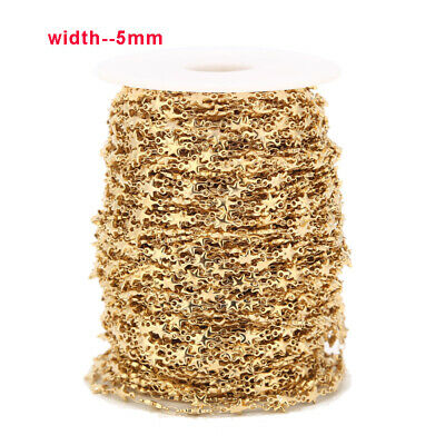 1 meter Stainless Steel Gold Plated Stars Handmade Chain for DIY Jewelry Making