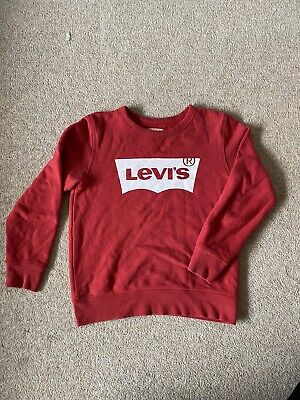 Levis Sweatshirt Boys Girls Junior Age 12 Red Used Good Condition