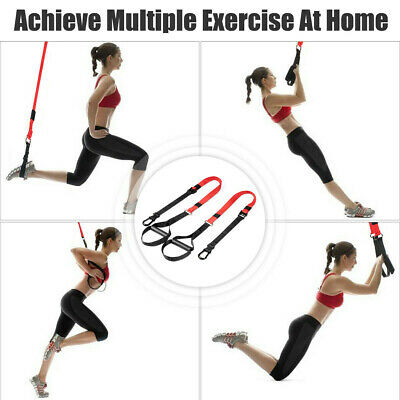 Bodyweight Resistance System Suspension Straps Strength Trainer With Extension
