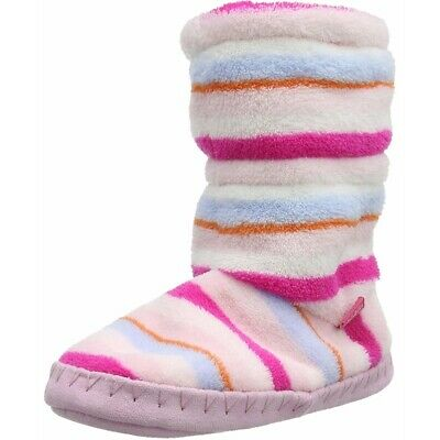 Joules Padabout Slippersock Stripe Pink//Multi Polyester Child Slippers