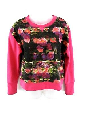 CONVERSE Girls Jumper Sweater 13-15 Years Pink Floral Polyester